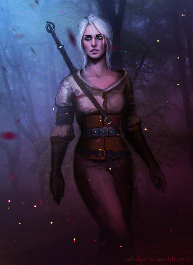 The Witcher art Ciri