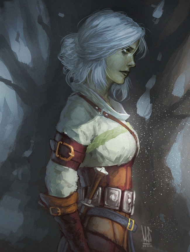 The Witcher 3 art Ciri