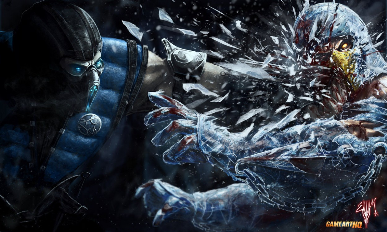 Mortal Kombat Sub-Zero-vs-Scorpion