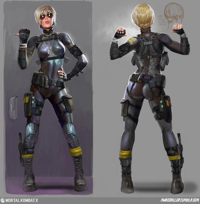 Mortal Kombat Concept_Art_MN_Cassie_Revisions_03