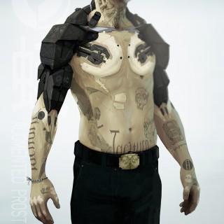 cyborg stell arms art