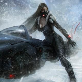 Winter girl concept art