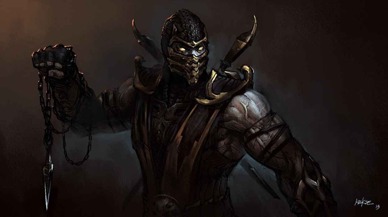 Mortal Kombat scorpion art