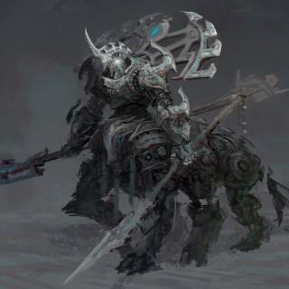 concept art - sketch cyborg