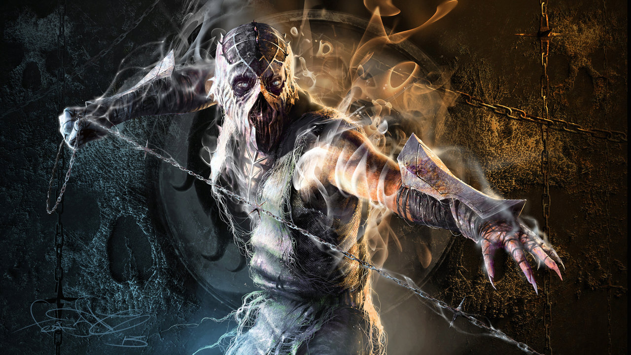Mortal Kombat smoke art