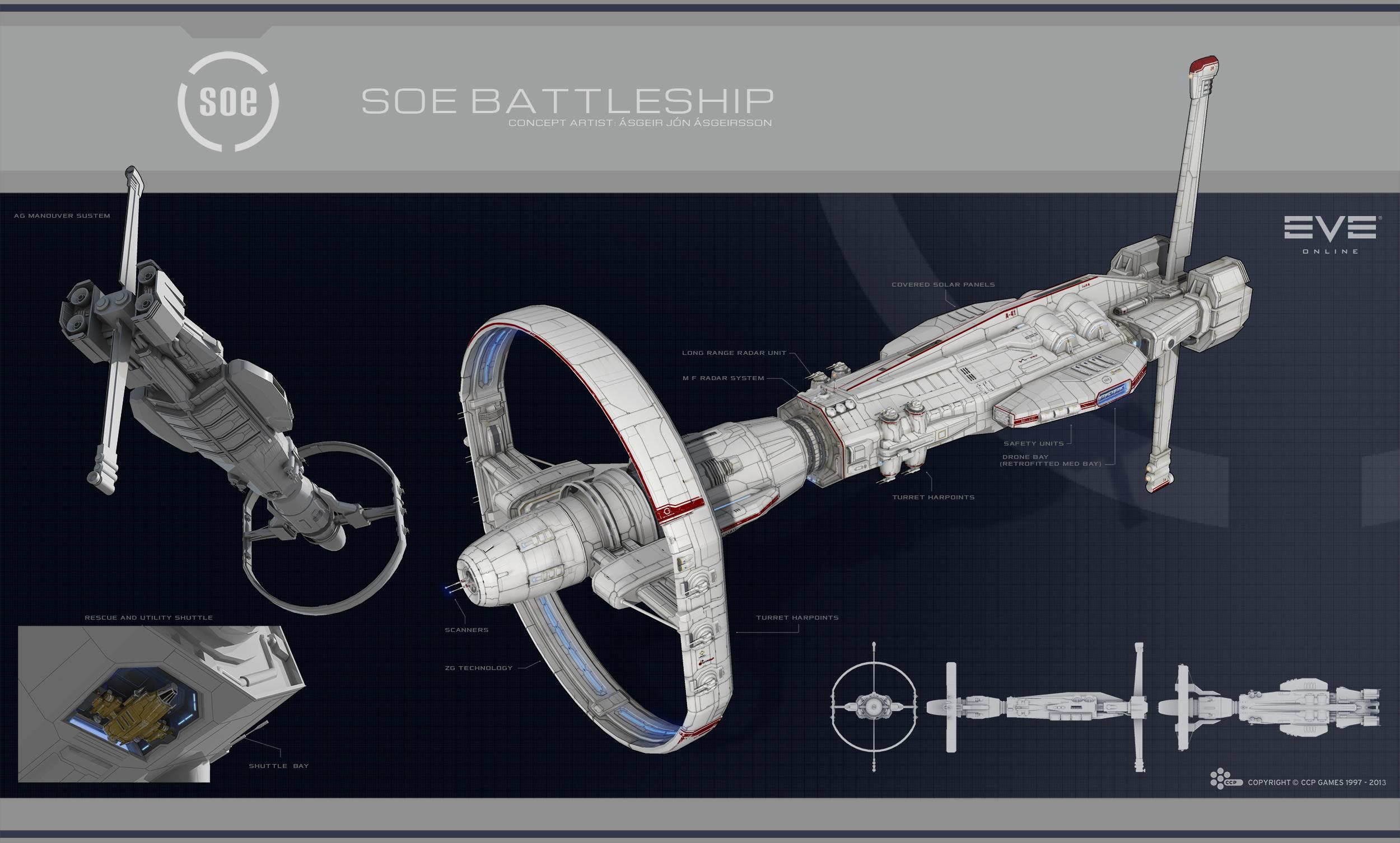 Eve: Online concept art nestor battleship