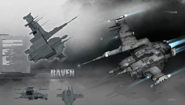 Eve: online concept art raven battleship