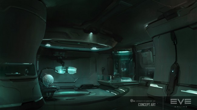 Eve: Online concept art gallente-captains-quarters