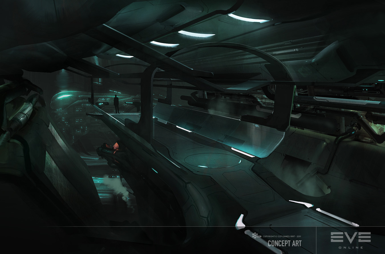 Eve: Online concept art gallente captains quarters