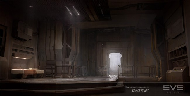 Eve: online concept art minmatar captains quarters