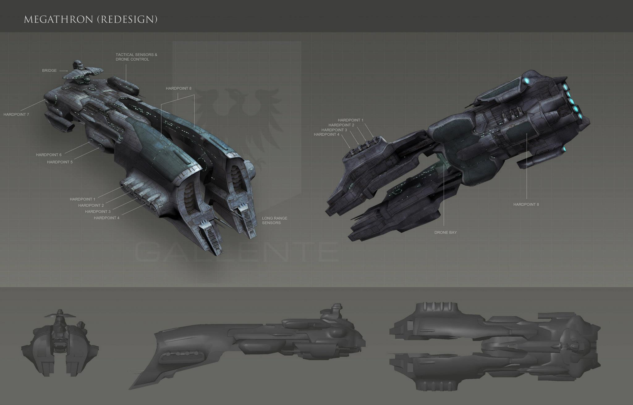 Eve: online concept art Megathron