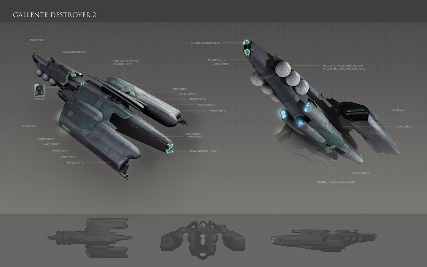Eve: online concept art Gallente_Destroyer