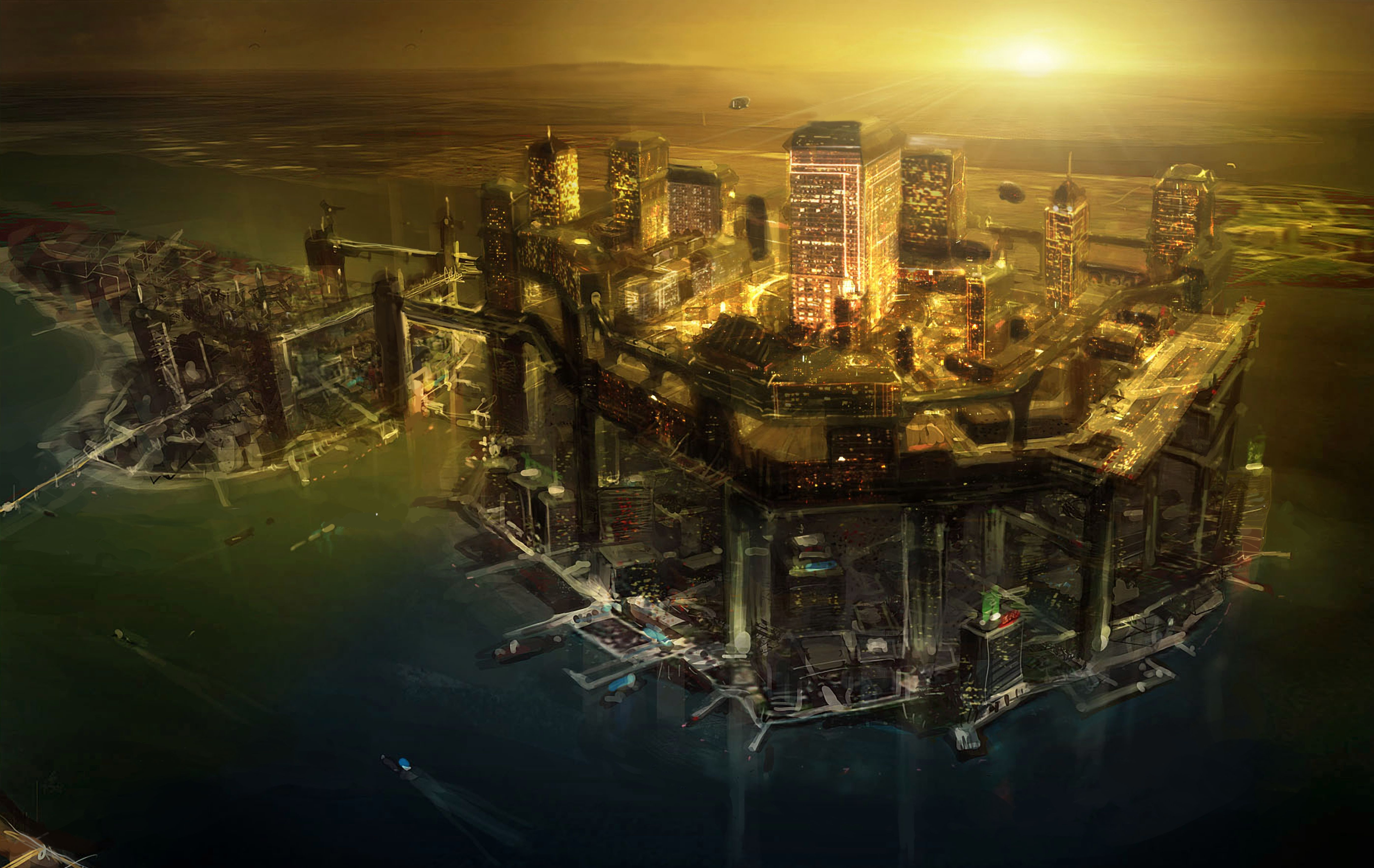 deus ex human revolution art city