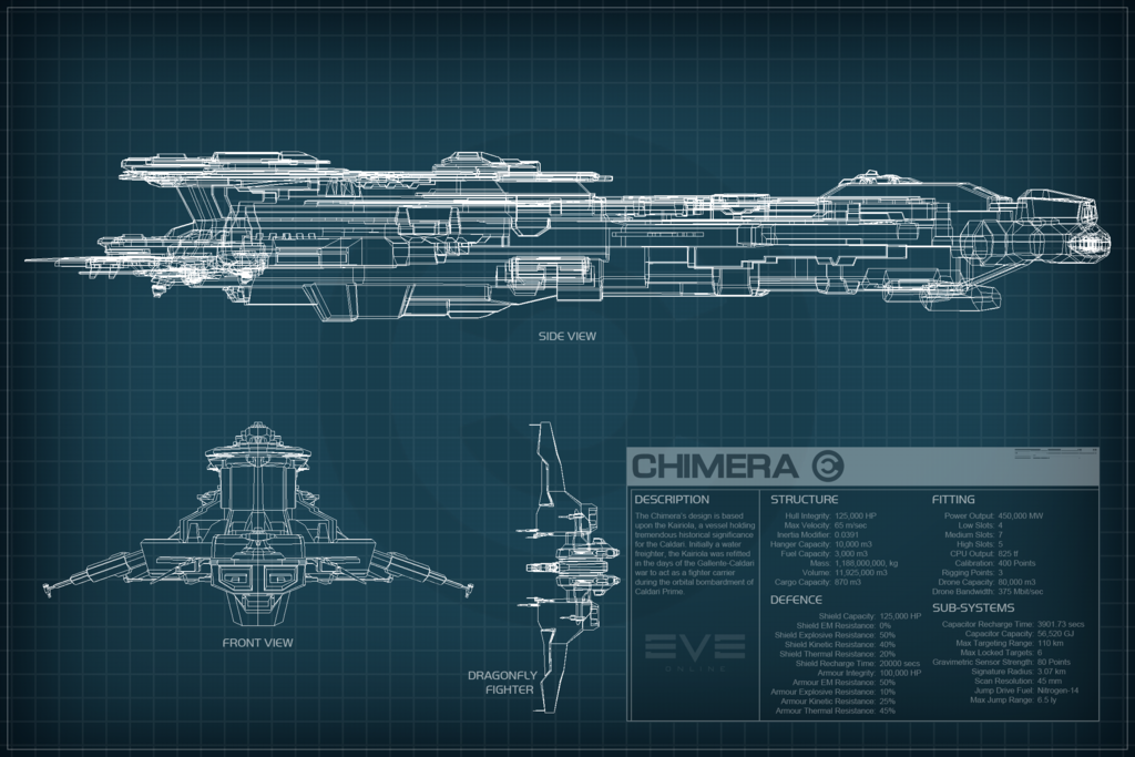 Eve: online concept art chimera schematic
