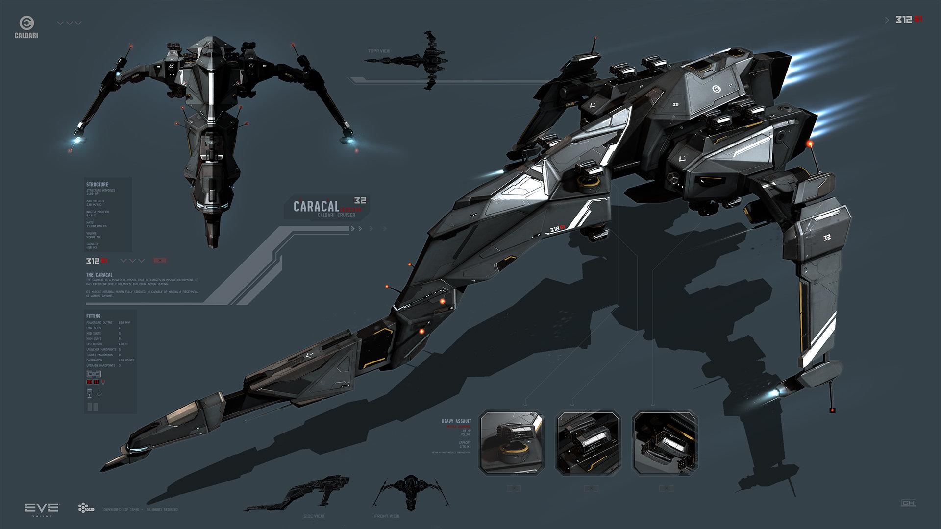 Eve: Online concept art caracal
