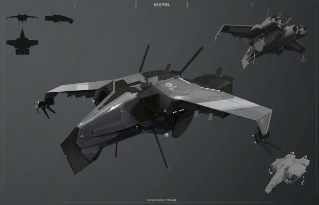 Eve: Online concept art kestrel