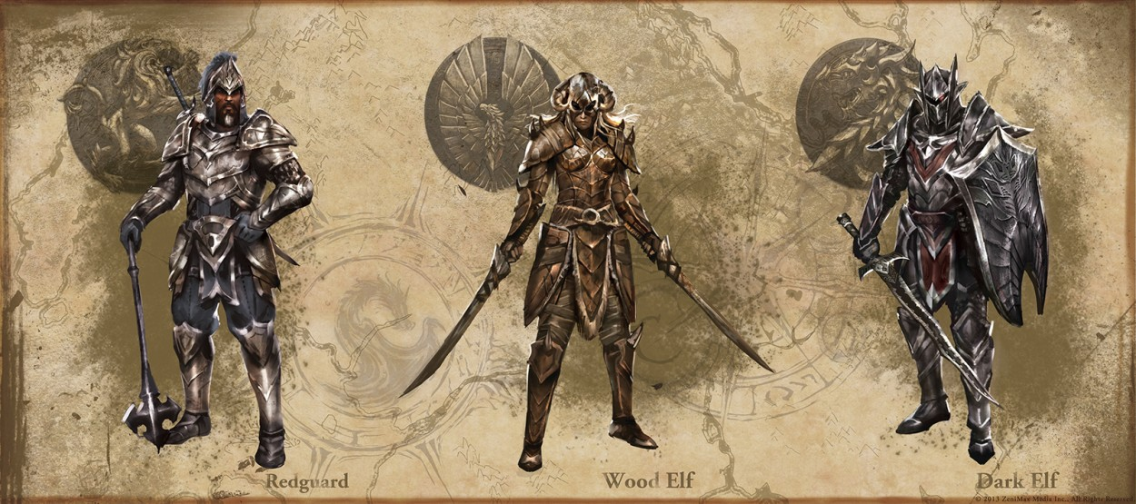The Elder Scrolls: Online concept art redguard wood Elf Dark Elf