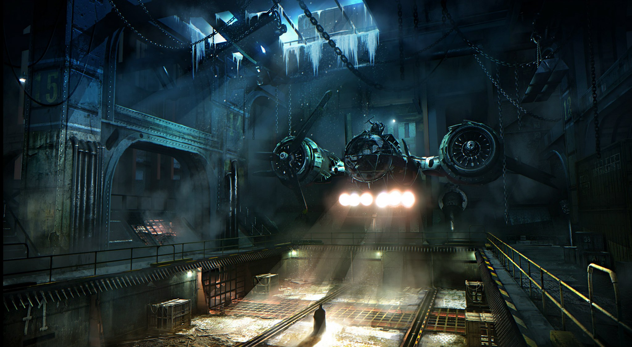 batman arkham knight location art