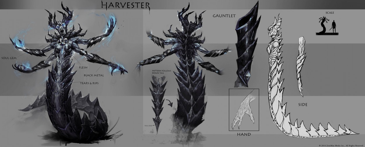 The Elder Scrolls: Online concept art Harvester