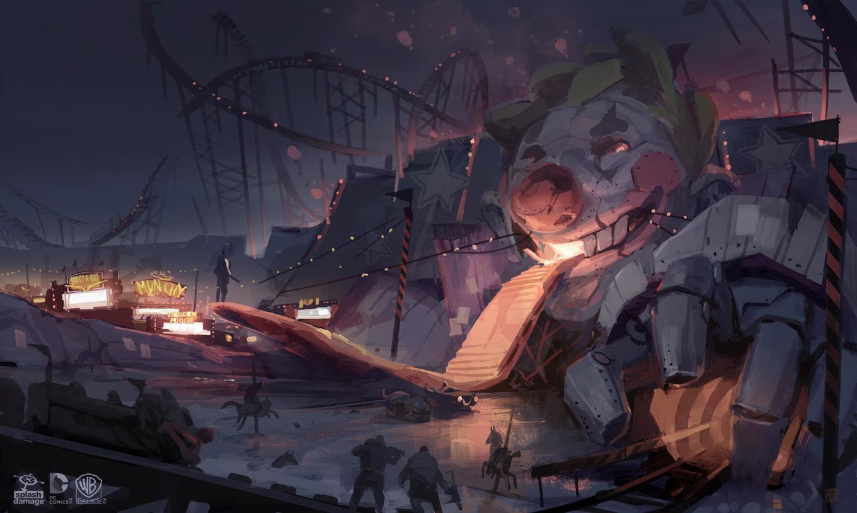 batman arkham knight joker location art Concept