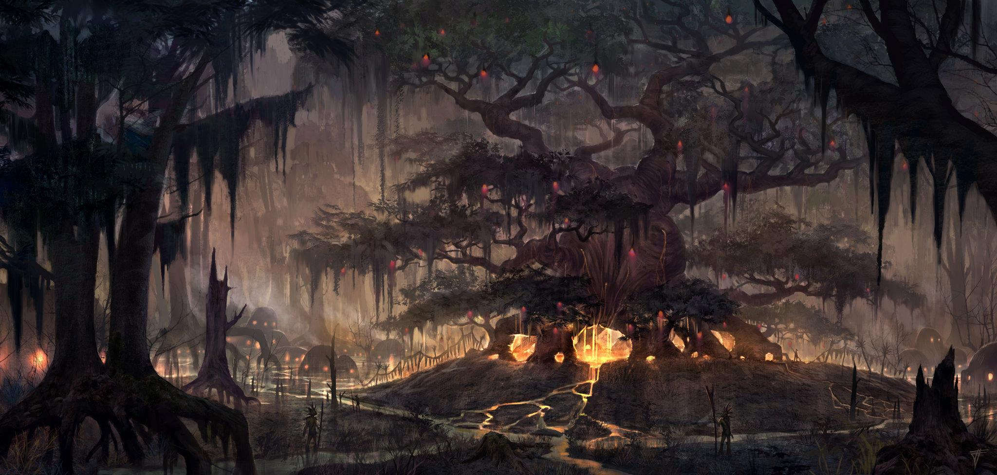 The Elder Scrolls: Online concept art Black Marsh