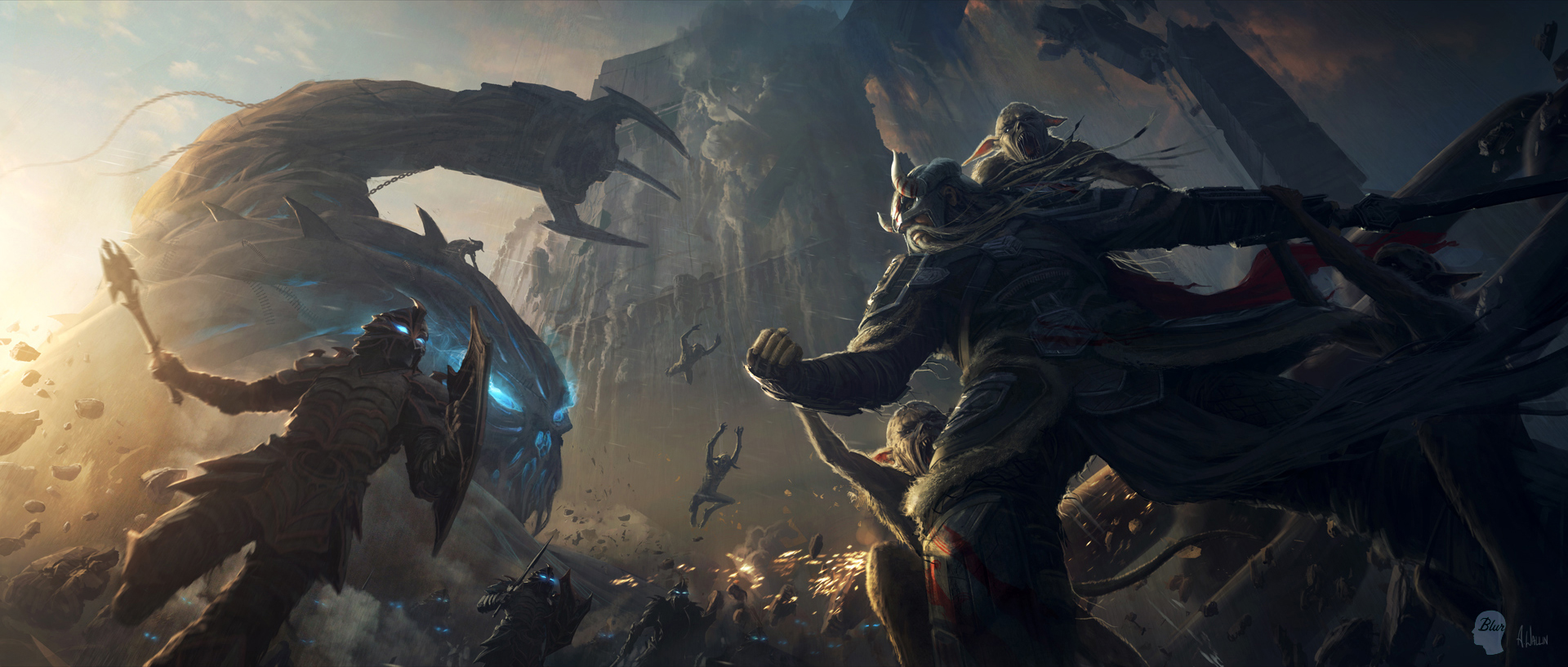 The Elder Scrolls: Online concept art Nord Battle