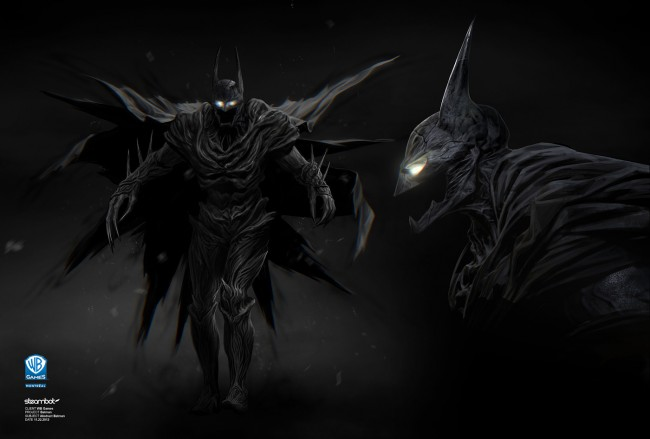 batman arkham knight costume art
