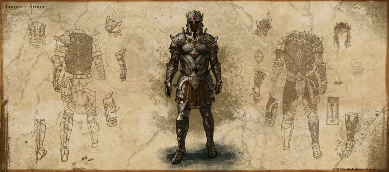 The Elder Scrolls: Online concept art Reward-Emperor-s-Armor
