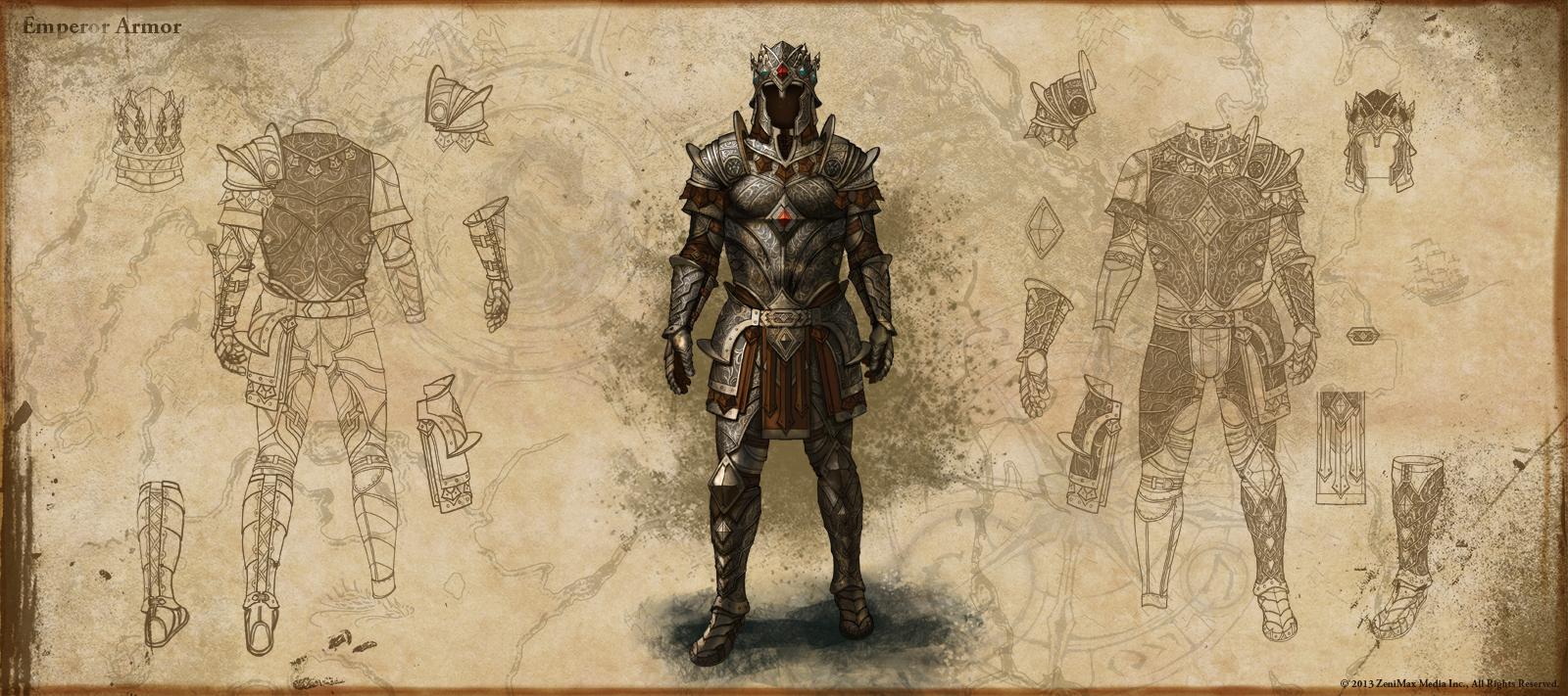 The Elder Scrolls: Online concept art Reward-Emperor-s-Armor