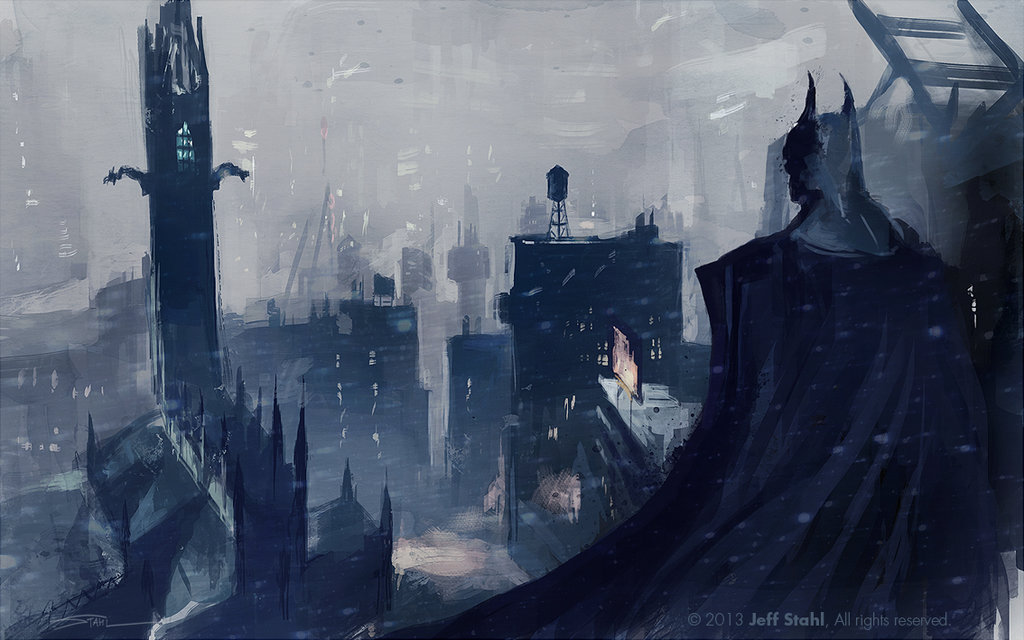 batman arkham knight location art fan_art