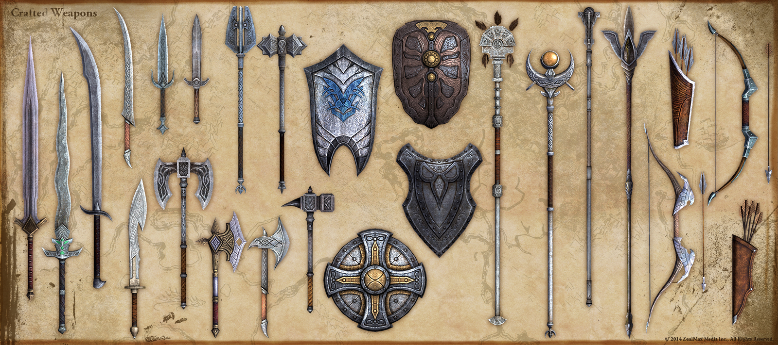 The Elder Scrolls: Online concept art weapon