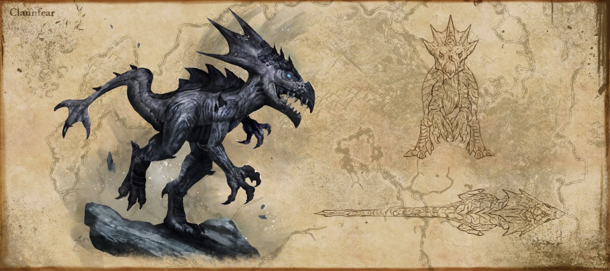 The Elder Scrolls: Online concept art clannfear