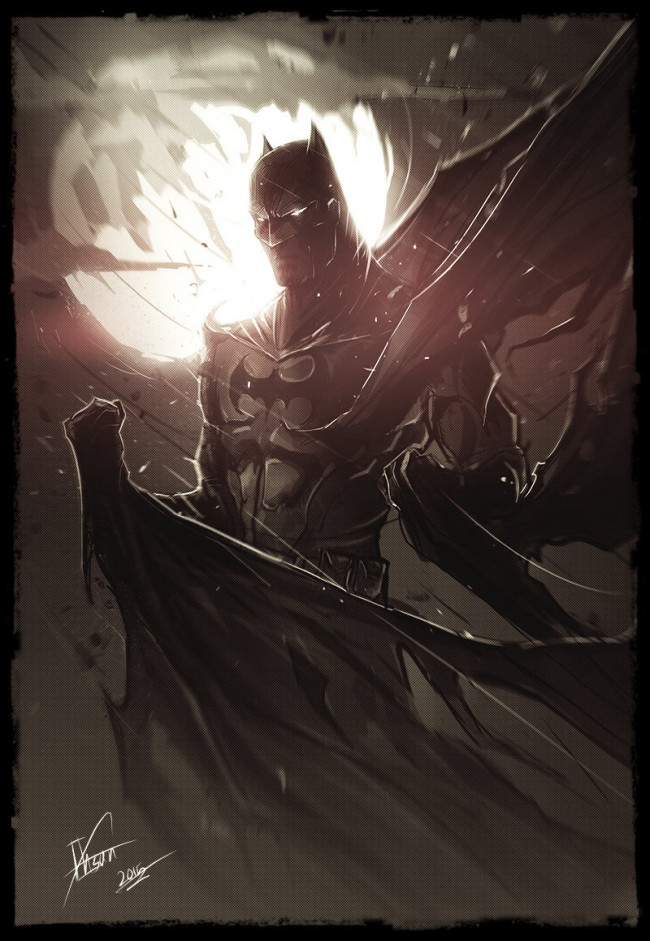 batman arkham knight art fan art