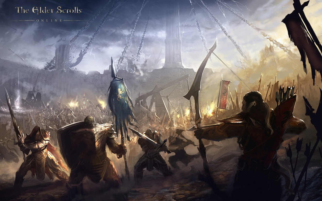 The Elder Scrolls: Online concept art alliance battle