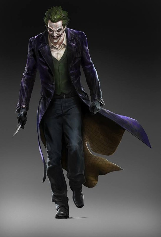batman arkham knight joker art