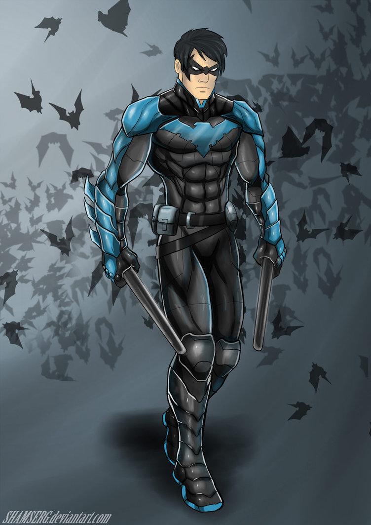batman arkham knight art nightwing