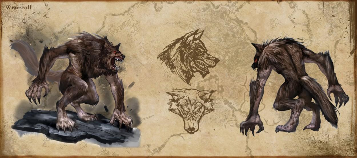 The Elder Scrolls: Online concept art werewolf