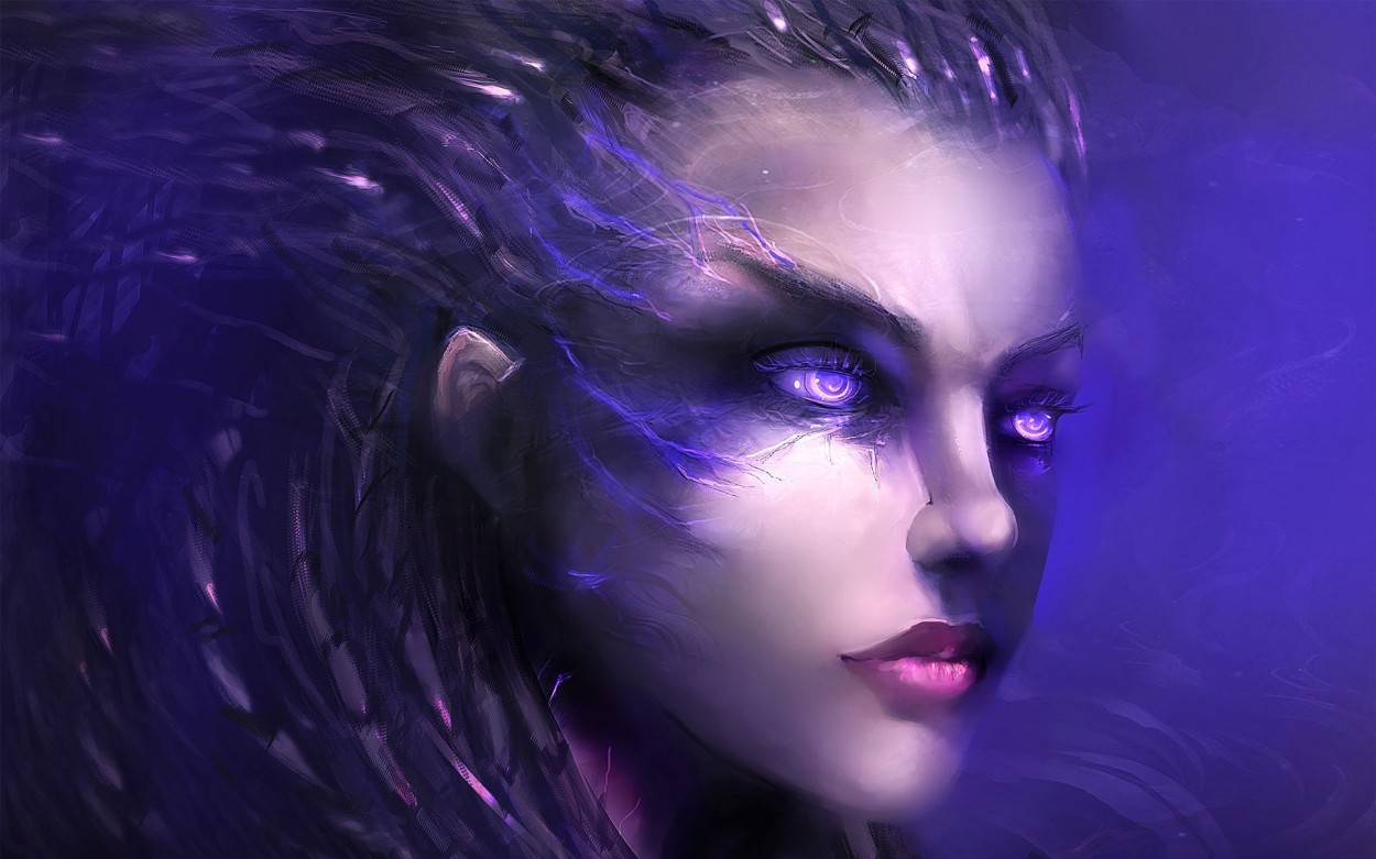 StarCraft 2 zerg concept art picture Сара Керриган Игровой арт