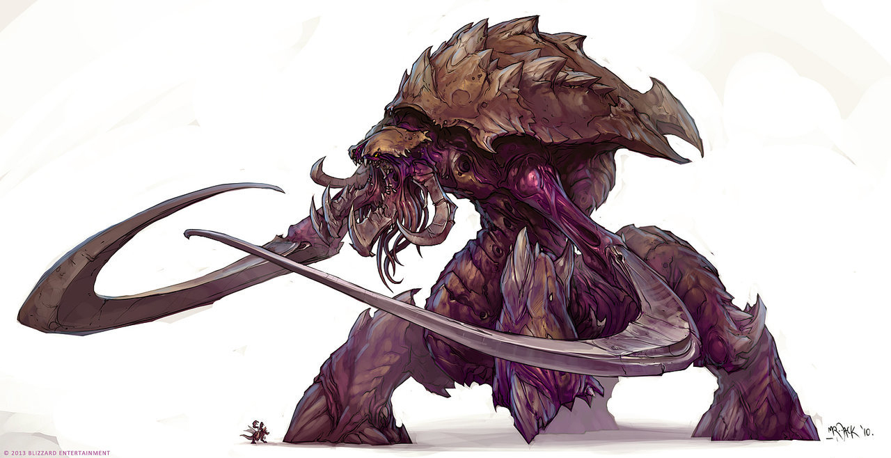 StarCraft 2 zerg concept art picture гигант