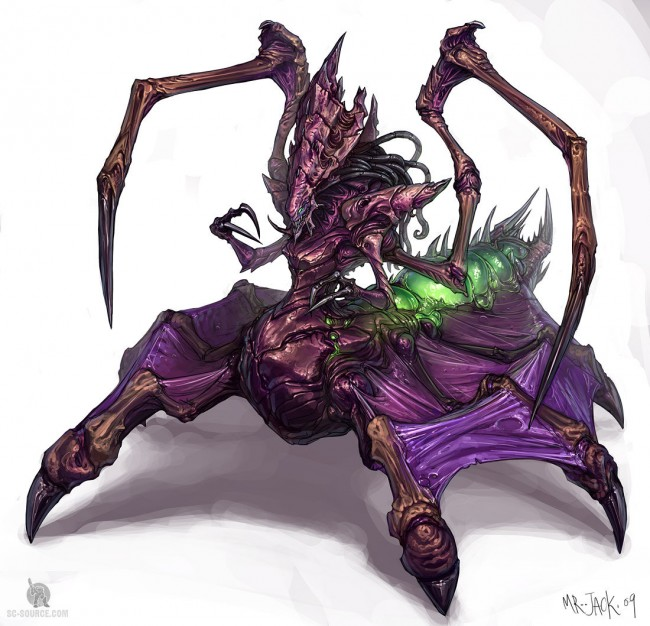 StarCraft 2 zerg concept art picture концепт матки
