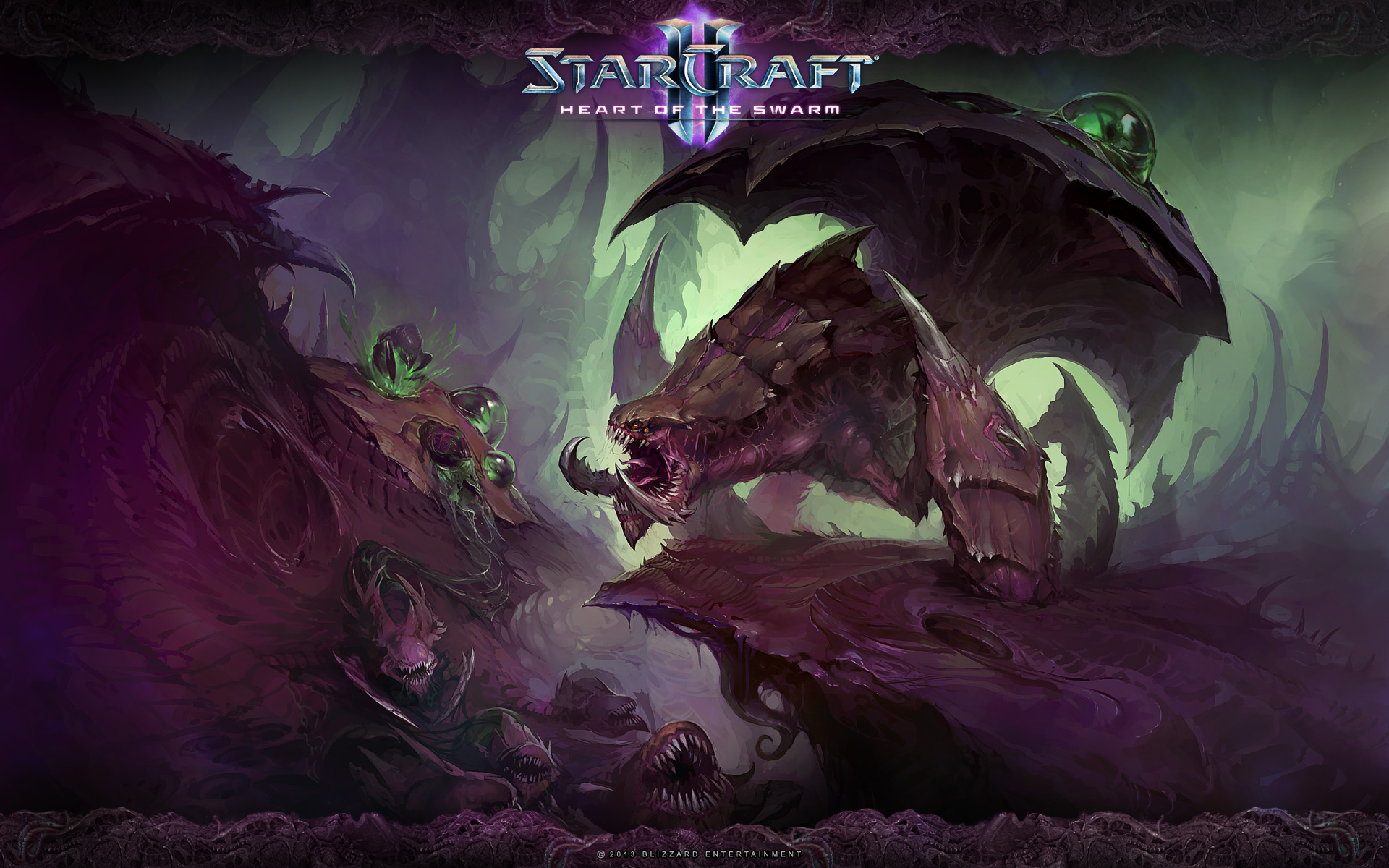 StarCraft 2 zerg concept art picture Зерги улей