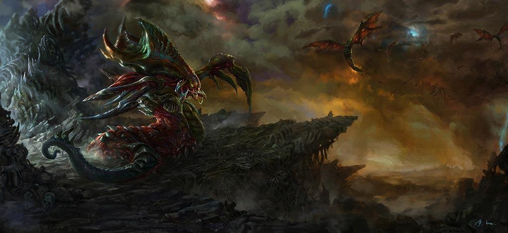 StarCraft 2 zerg concept art picture концепт