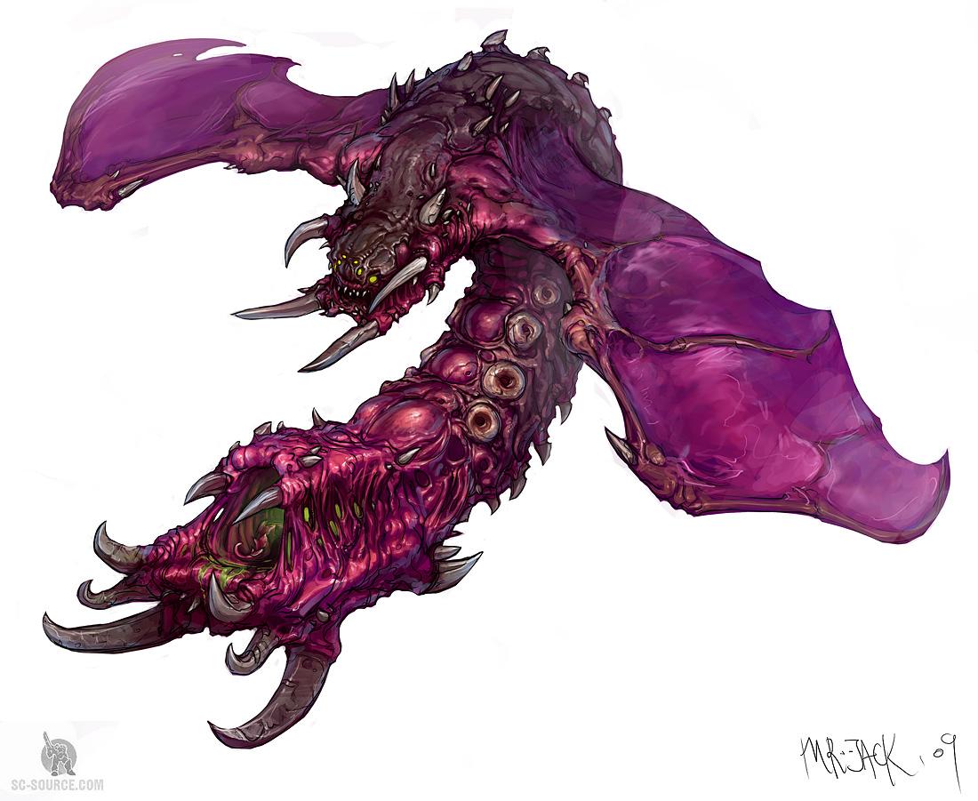 StarCraft 2 zerg concept art picture концепт mutalisk