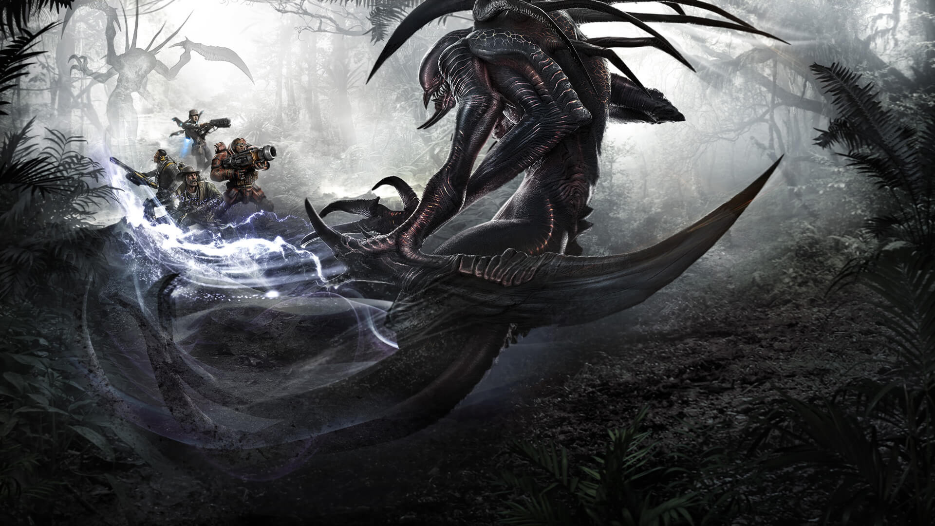 Evolve concept art монстра wraith artwork