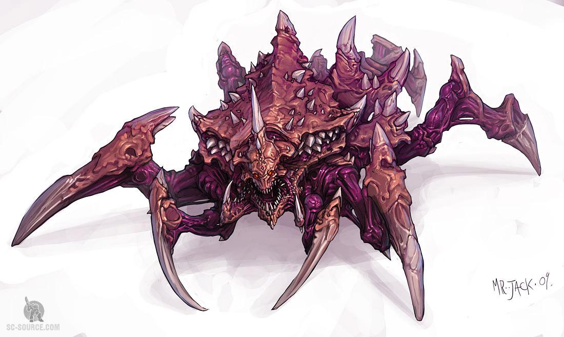 StarCraft 2 zerg concept art picture концепт зерга