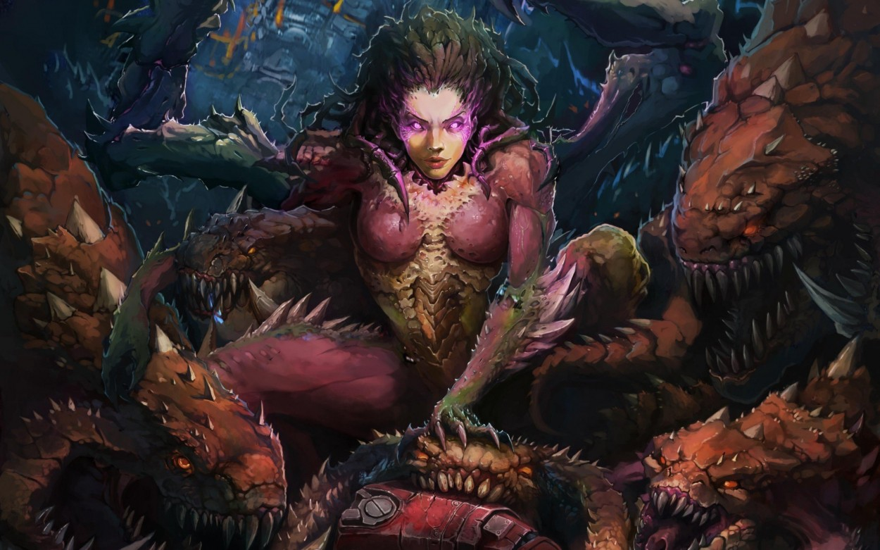 StarCraft 2 zerg concept art picture kerrigan fan art