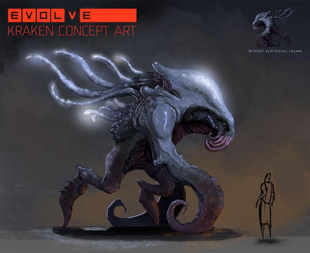 Evolve concept art кракен первые версии