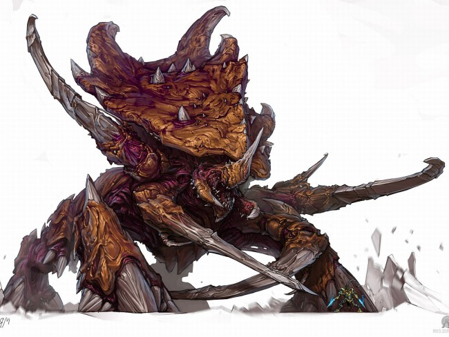 StarCraft 2 zerg concept art picture концепт ультралиска