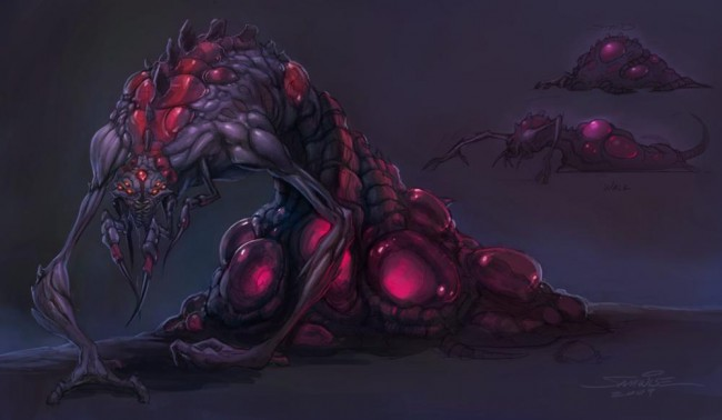 StarCraft 2 zerg concept art picture Changeling