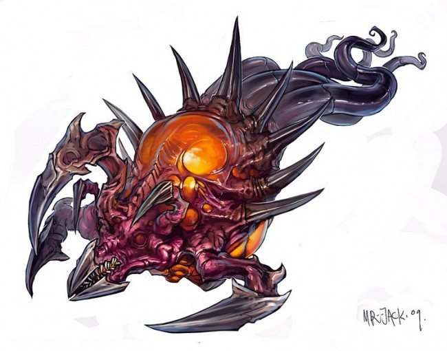 StarCraft 2 zerg concept art picture концепт Corruptor